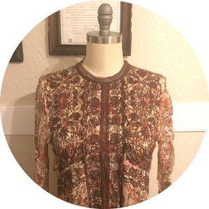 Anthropologie autumn dress, vintage prairie style